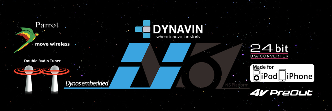 Double Din Navigation with full CANBUS and MOST optical integration by Dynavin