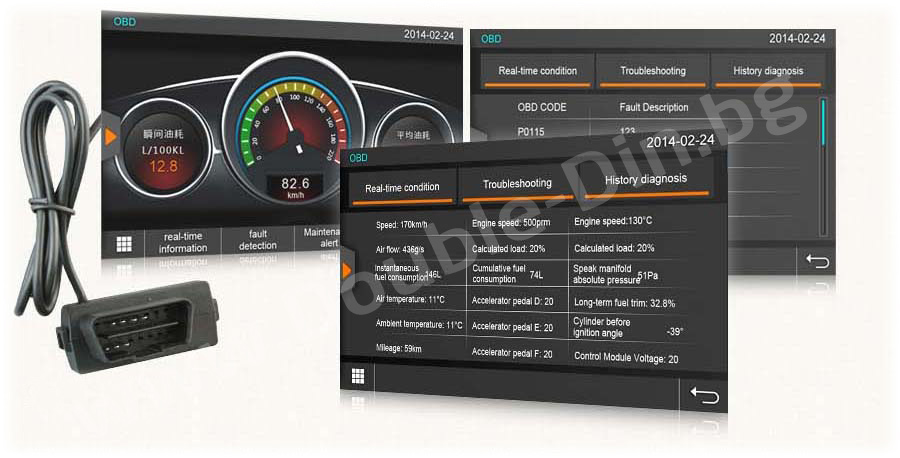 Vehicle diagnostics with Torque Pro through OBD II