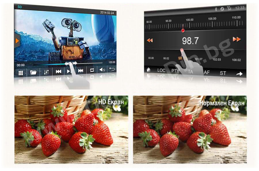 Capacitive LCD HD TFT touch sensitive screen
