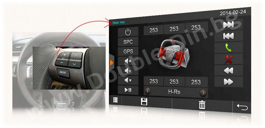 Steering wheel control and CAN BUS
