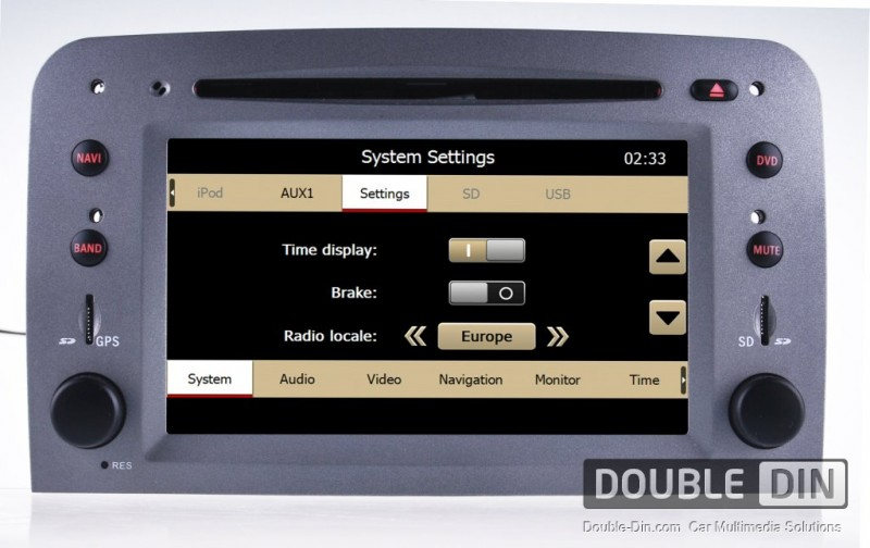 OEM Multimedia Double Din - DVD, GPS, TV for ALFA ROMEO 147