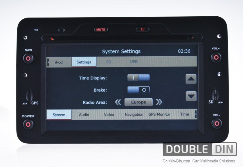 oem multimedia double din dvd gps tv for alfa romeo 159. Black Bedroom Furniture Sets. Home Design Ideas