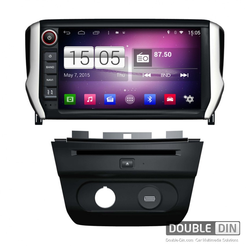 navigation multimedia head unit with android for peugeot 208 2008 dd m374. Black Bedroom Furniture Sets. Home Design Ideas