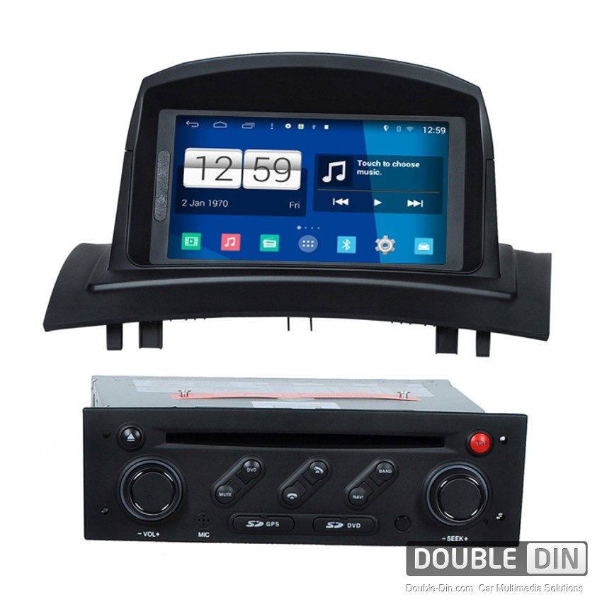 navigation multimedia head unit with android for renault megane ii dd m098. Black Bedroom Furniture Sets. Home Design Ideas