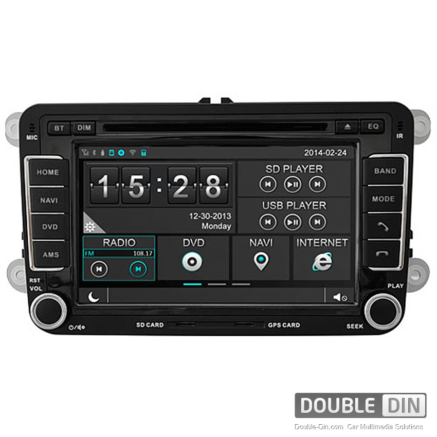 Navigation / Multimedia Head unit for VW Golf, Passat, Tiguan, Touran, EOS, Caddy, Jetta and others - DD-8240