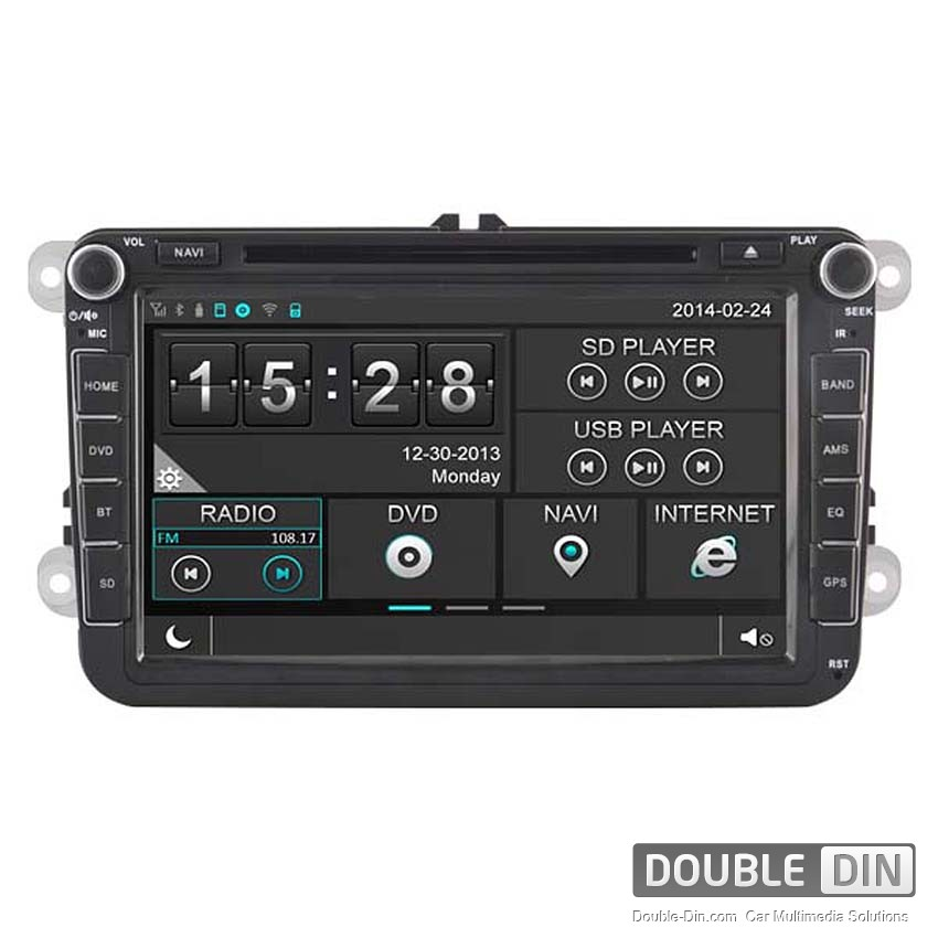 Navigation / Multimedia Head unit for VW Golf, Passat, Tiguan, Touran, EOS, Caddy, Jetta and others - DD-8241
