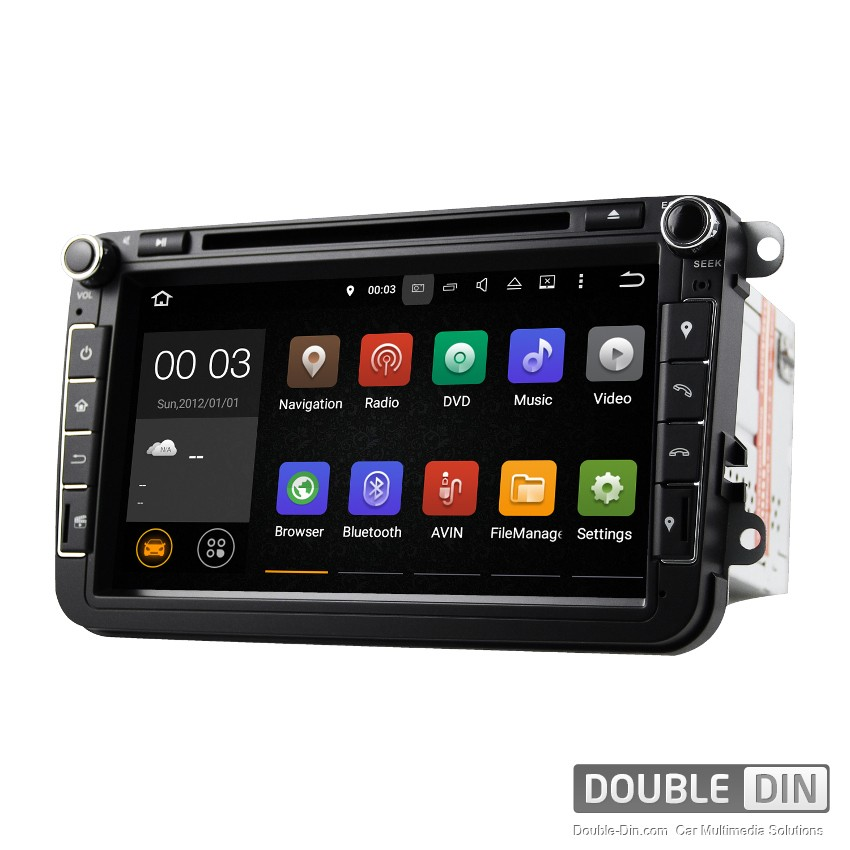 Navigation / Multimedia Head unit with Android 5.1 for VW Golf, Passat, Tiguan, Touran, EOS, Caddy, Jetta - DD-8015