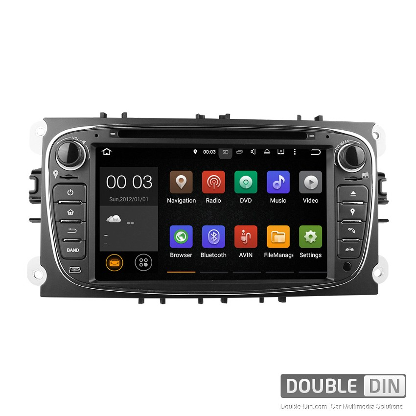 Navigation / Multimedia Head unit with Android 5.1 for  Ford Mondeo, Focus, S-Max  - DD-7009