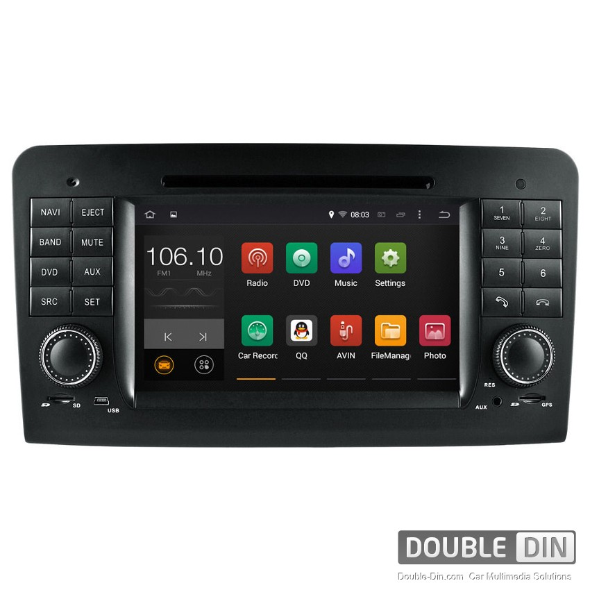 Navigation / Multimedia Head unit with Android 5.1 for Mercedes ML-class W164, GL-class  X164 - DD-7083