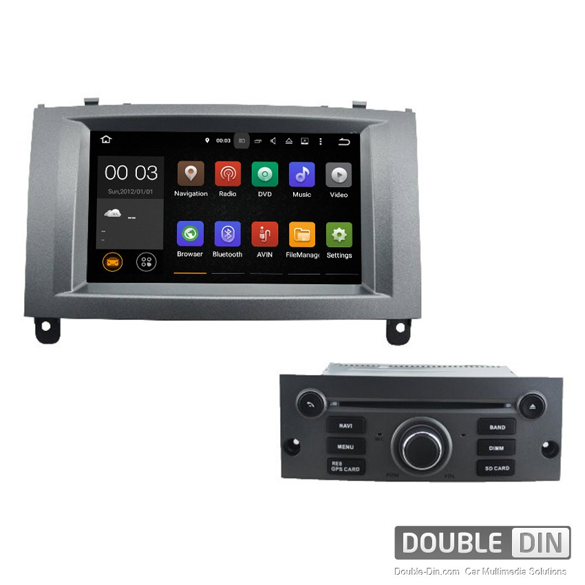 Navigation / Multimedia Head unit with Android 5.1 for  Peugeot 407 - DD-5588