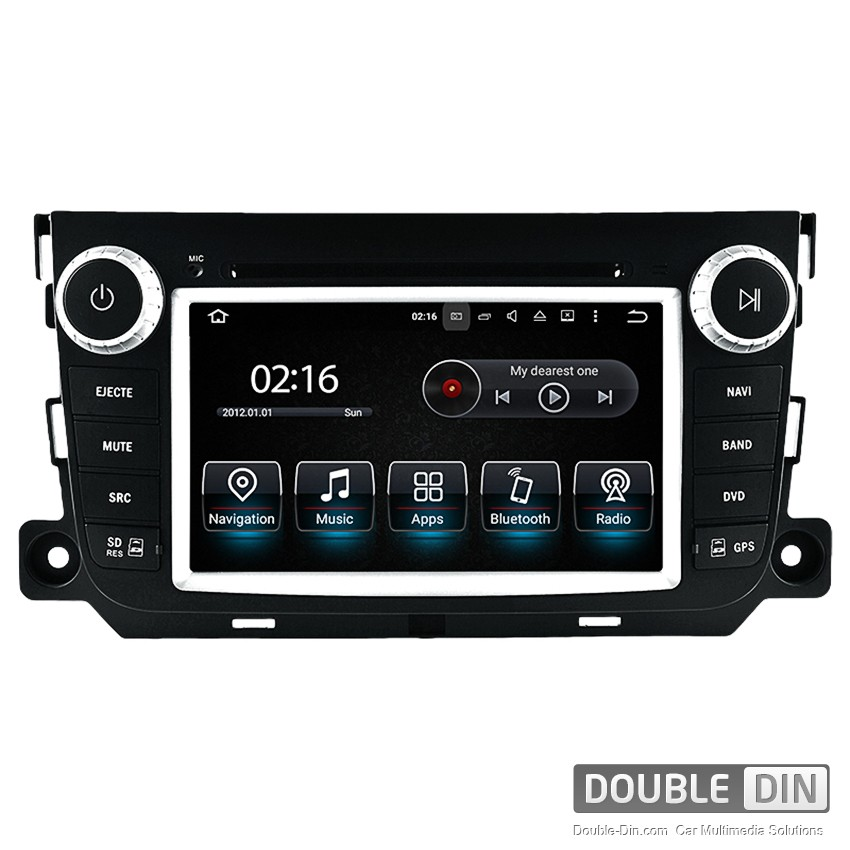 Navigation / Multimedia Head unit with Android 5.1 for Smart Fortwo - DD-8837