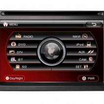 Universal Multimedia Double Din - DVD, GPS, TV - DVD Player with Fixed Screen